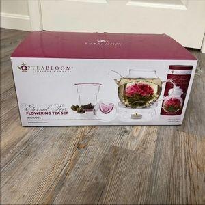 New Glass Flowering Tea Set